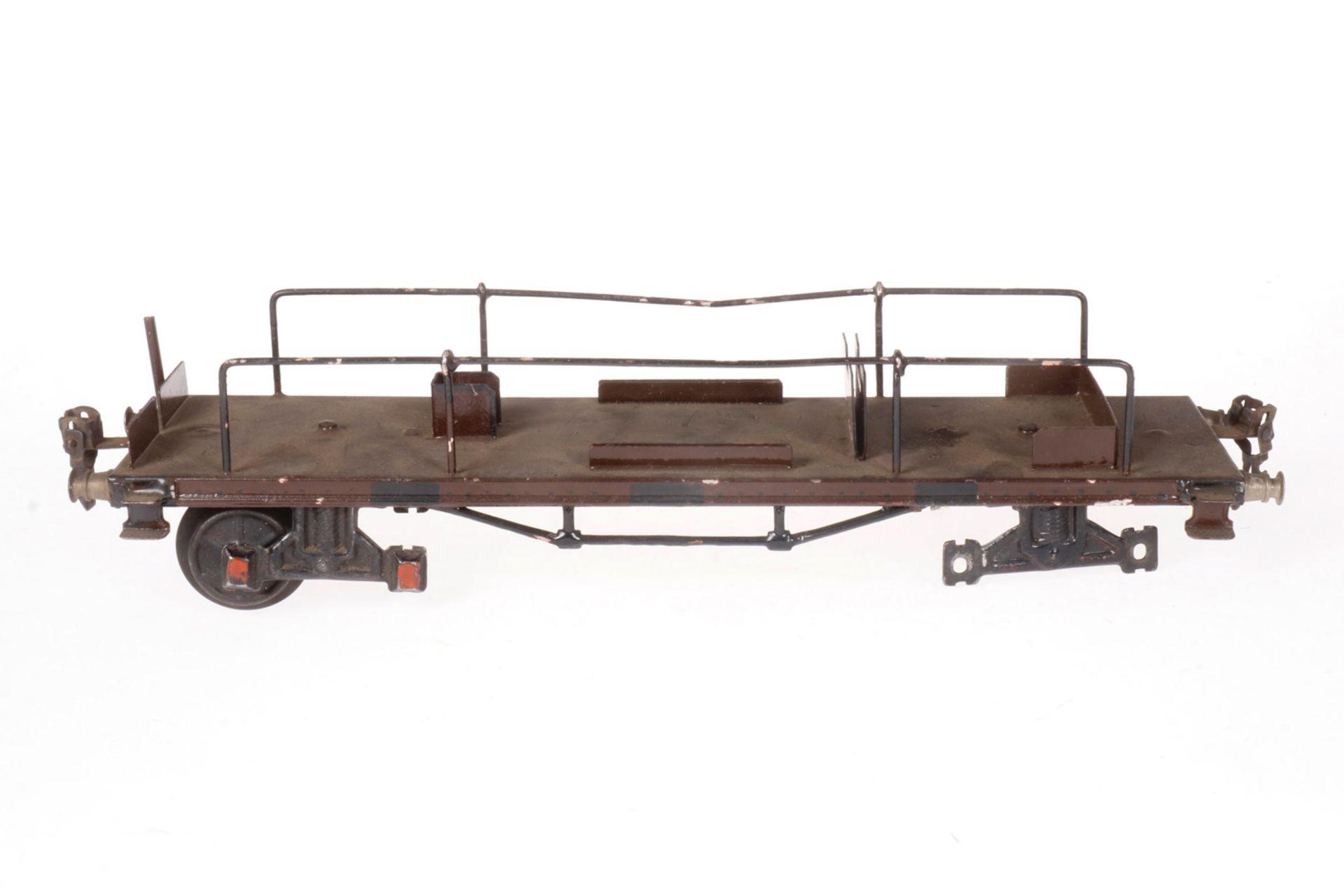 Märklin Flugzeugtransportwagen 1881, S 1, HL, Drehgestelle ersetzt, NV, L 31,5, Z 3