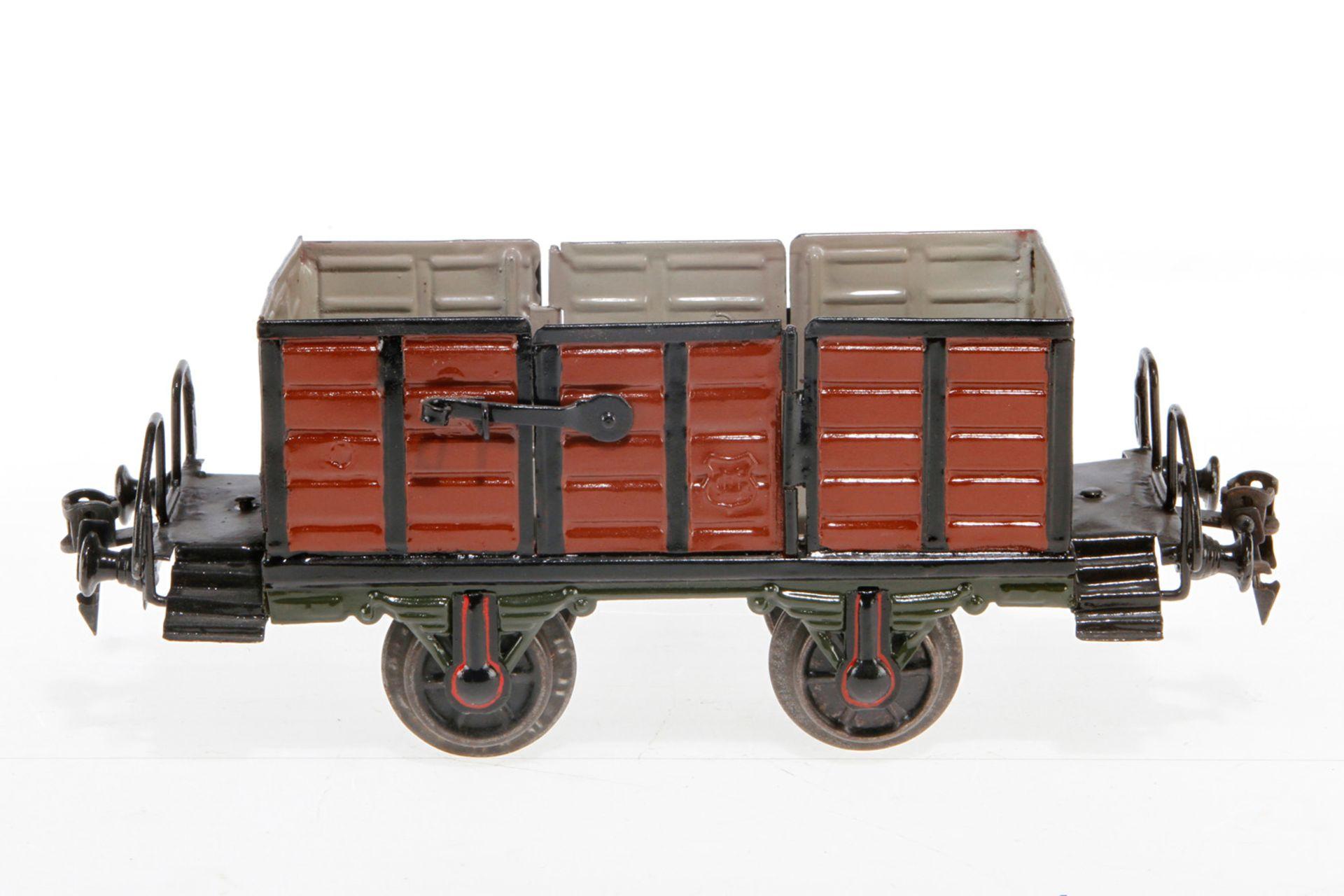 Märklin Hochbordwagen, S 1, uralt, mit 2 LTH, L 21,5, rest.