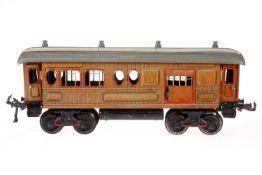 Bing Gepäckwagen, S 1, CL, mit Diensteinrichtung, 4 AT und 2 ST, LS und gealterter Lack, L 34, Z 2-