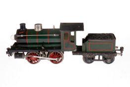 Märklin B-Dampflok R 12981, S 1, elektr., grün/schwarz, mit Tender und 1 el. bel. Stirnlampe,