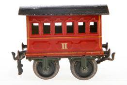 Märklin Personenwagen 1805, S 1, uralt, rot HL, LS und gealterter Lack, L 12,5, Z 3