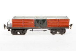 Märklin offener Güterwagen 1951, S 1, HL, 2x 2 LTH, LS und gealterter Lack, L 31,5, Z 2-3