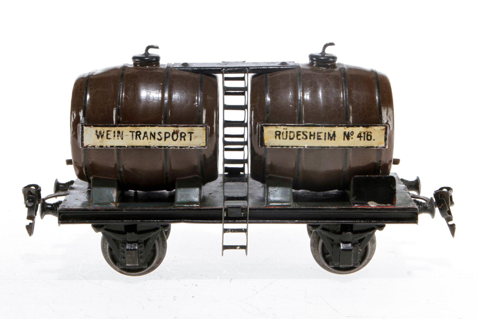 Märklin Weinwagen 2994, S 1, uralt, HL, LS tw ausgebessert, gealterter Lack, L 21, sonst noch Z 2-3