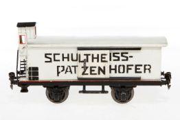 Märklin Schultheiss-Patzenhofer Bierwagen 1988, S 1, HL, mit BRHh und 2 ST, LS tw ausgebessert,