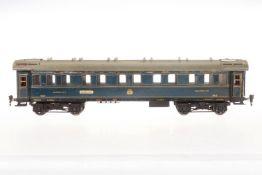 Märklin int. Schlafwagen 1943 J, S 1, blau, mit 4 AT, 2 Schildern und Gussrädern, 1 Dachlüfter