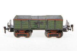 Märklin offener Güterwagen 1845, S 1, uralt, HL, 2x 2 LTH, LS tw ausgebessert, Drehgestellstifte