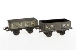 2 Bing engl. Güterwagen, S 1, CL, LS, L 19, Z 2-3