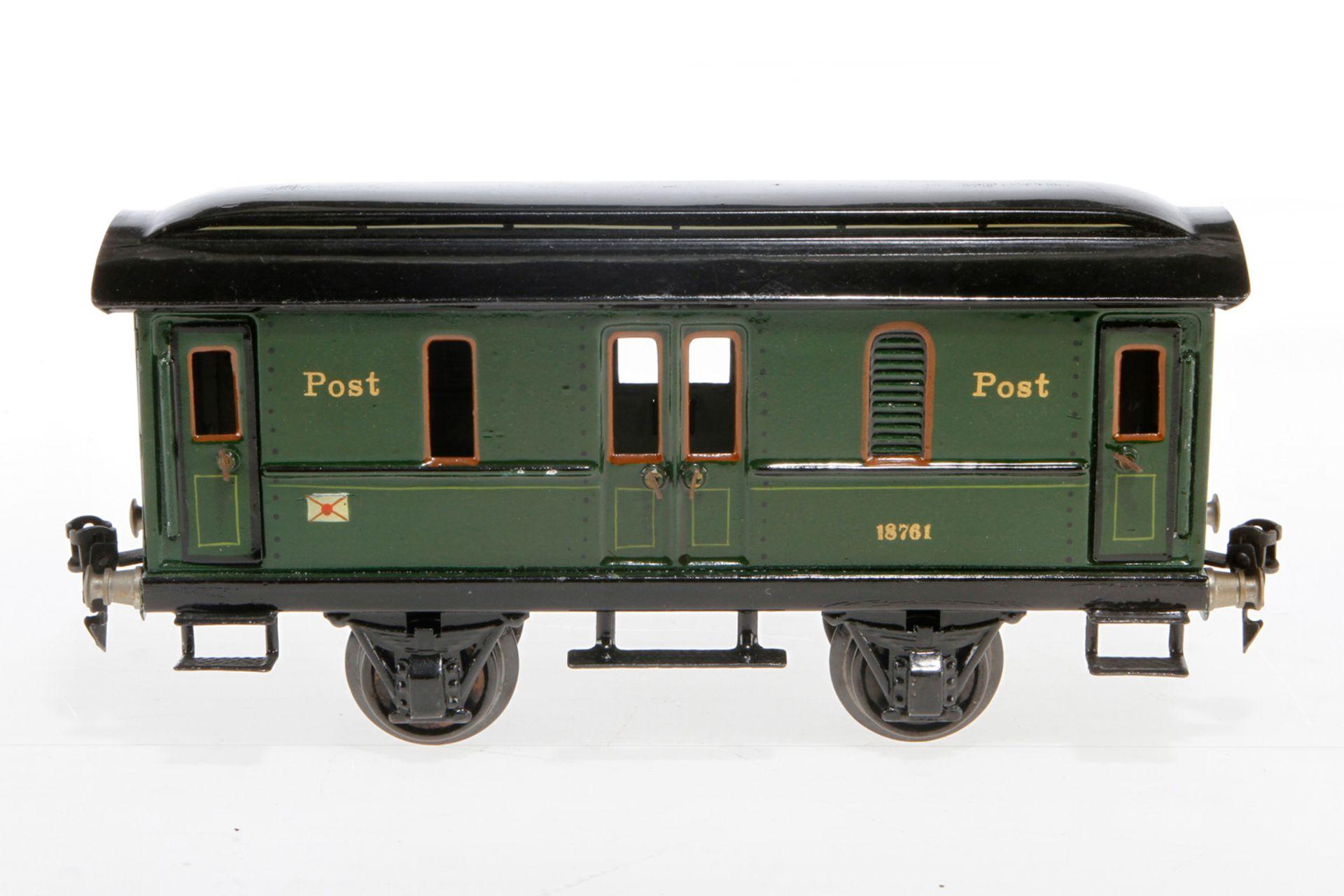 Märklin Postwagen 1876, S 1, HL, mit 4 AT, LS und gealterter Lack, L 24, sonst noch Z 2
