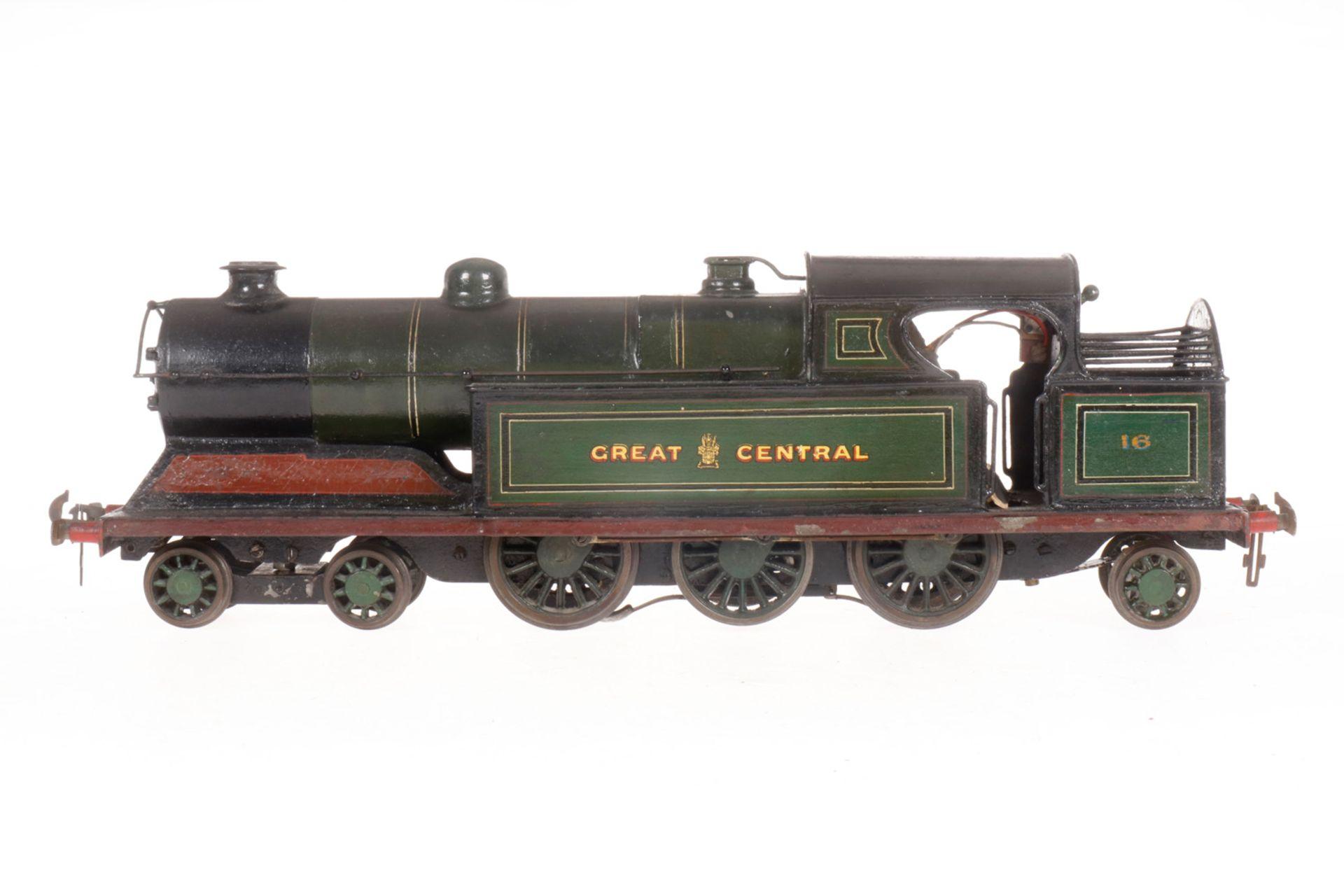 """Carette 2-C-1 Tenderlok """"Great Central"""" 16, S 1, elektr., HL, tw nachlackiert, ergänzt und umgebaut,"""
