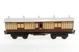 Märklin englischer Postwagen 2876 LNWR, S 1, CL, Dach nachalckiert, L 42, sonst Z 2