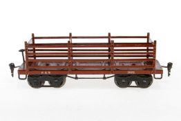 Märklin amerik. Plattenwagen 2932 PRR, S 1, HL, je 2 Fremdbohrrungen in Pufferbohlen, LS und