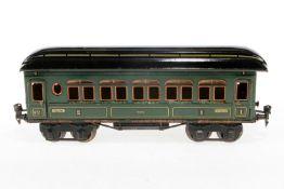 Märklin Personenwagen 1886, S 1, CL, mit 4 AT, LS tw ausgebessert, gealterter Lack, L 33,5, Z 2-3