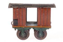 Schoenner gedeckter Güterwagen, S 1, uralt, HL, mit 2 TÖ, L 10,5, Z 4