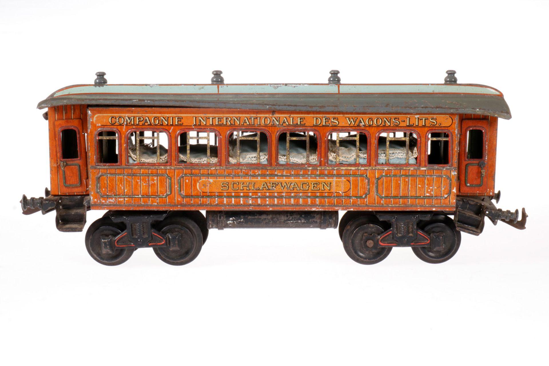Bing int. Schlafwagen, S 1, CL, mit Inneneinrichtung (NV) und 4 AT, LS/RS, L 34, Z 4