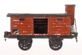 Märklin gedeckter Güterwagen, S 1, HL, mit BRHh und 1 TÖ, L 20, Z 4