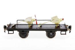 Märklin Plattformwagen 1996, S 1, HL, mit 2 Tauben, meist nachlackiert, L 24, Z 3