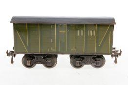 Bing gedeckter Güterwagen, S 1, uralt, CL, LS und Alterungsspuren, L 25,5, sonst noch Z 2-3
