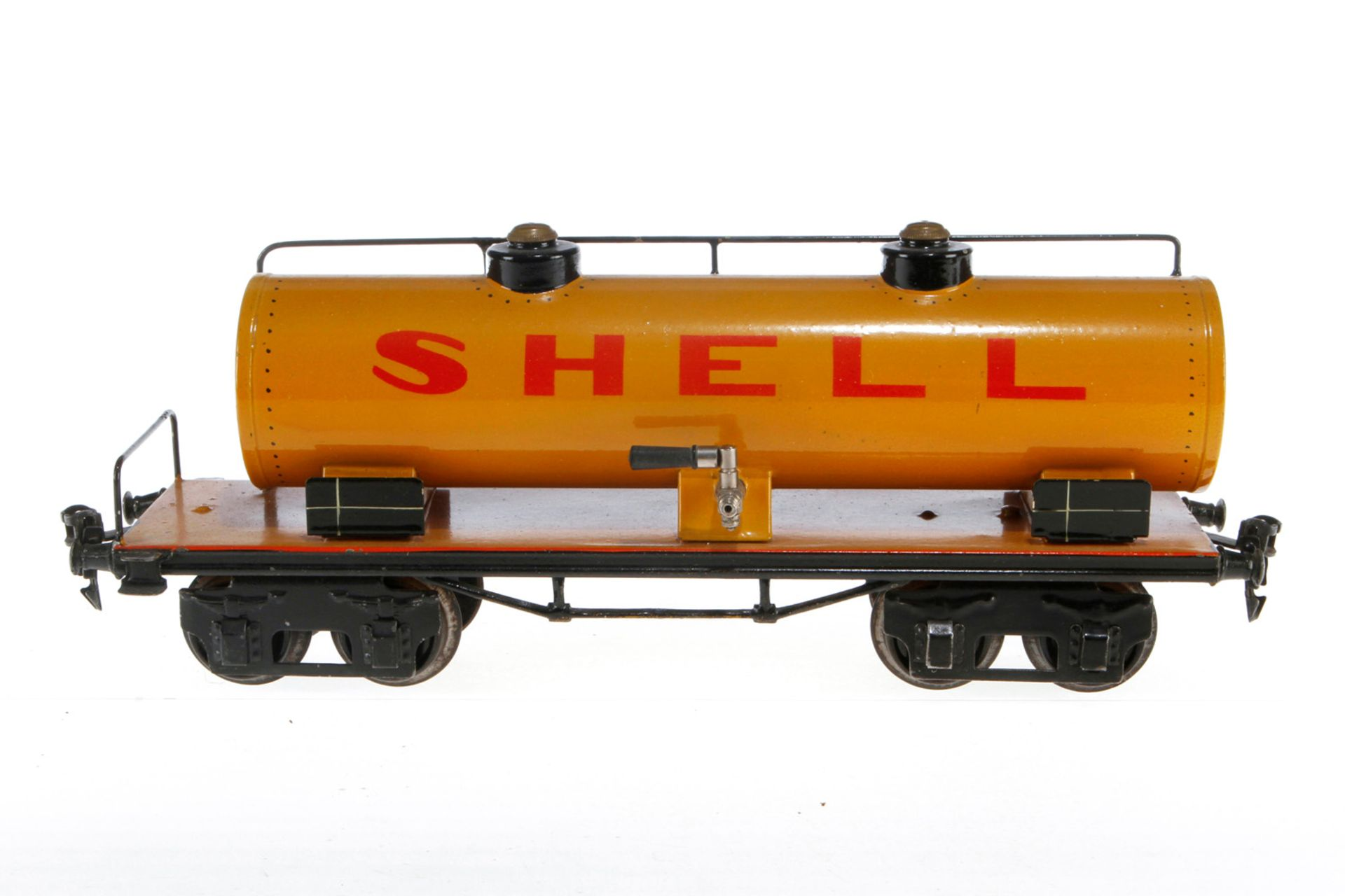 Märklin Shell Kesselwagen 1954, S 1, HL, LS und gealterter Lack, L 31,5, sonst noch Z 2