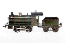Märklin B-Dampflok R 12981, S 1, elektr., grün/schwarz, mit Tender und 1 el. belk. Stirnlampe, meist