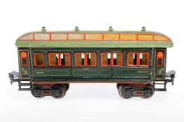 Märklin Personenwagen 1841, S 1, uralt, HL, mit Inneneinrichtung und 4 AT, Dachlaschen und