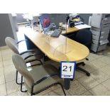 Lot : poste de travail avec retour, 3 fauteuils, cabinet 2 tiroirs V - SEULEMENT