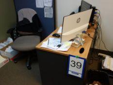 Lot : bureau, fauteuil, séparateur, cabinet 2 tiroirs - SEULEMENT