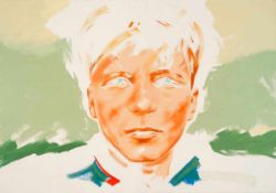 Bisky, Norbert(Leipzig 1970 - lebt in Berlin)Kamerad 4326. Öl auf Leinwand. 2002. 140 x 200 cm.