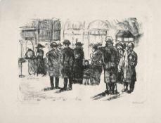 Beckmann, Max(Leipzig 1884 - 1950 New York)Stettiner Vorortbahnhof. Lithographie auf festem Japan.