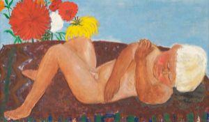 Cassel, Pol(München 1892 - 1945 Kisinev)Sommer mit schlafendem Ra. Öl u. Tempera über Graphit auf