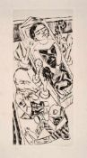 Beckmann, Max(Leipzig 1884 - 1950 New York)Der Traum I (Totenklage). Kaltnadelradierung auf Japan.