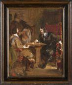 Haghe, Louis (Tournai, Stockwell 1806-1885)Entscheidende Schachpartie aus dem 17.
