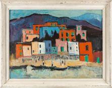 Kindt, Max (Starkenhorst, Berlin 1896-1970)IbizaSign. u. dat. (19)68. Hartfaserplatte. 61×78 cm.