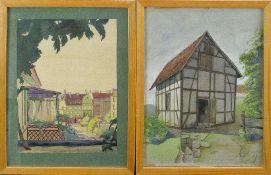 Kersten, Fritz (um 1932)Schmalenhof bei RonsdorfAquarell. Sign., betit. u. dat. (19)32. Ca. 39×30