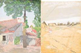 Eisentraut, Wilhelm (geb. 1906)Acht Landschaften u. StadtansichtenEine Ölstudie, sechs Aquarelle