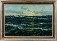Kalckreuth, Patrick von (Kiel, Starnberg 1898-1979)Bewegtes Meer Sign. Lwd. 80×120 cm. (Minimale