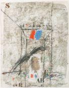Guinovart, Josep (Barcelona 1927-2007)Komposition mit geometrischem Korpus, Zahlen und