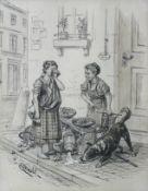 Arnold, Karl (Neustadt b. Coburg, München 1883-1953)Humoristische StraßenszeneSchusterjunge neben