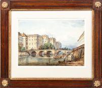 Hasse , Ernst (Erfurt, Dresden 1819-1862)Berlin. Lange Brücke mit Königlichem SchlossSign. u. dat.