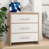 Gia 3 Drawer Chest of Drawers - RRP £120