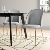 Leland Upholstered Dining Chair (Set of 2) - RRP £118.99