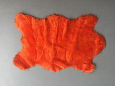 Orange Shaggy Rug