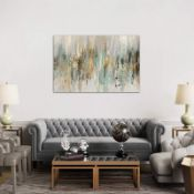 Dripping Gold I by Tom Reeves - Wrapped Canvas Painting Print - RRP £499