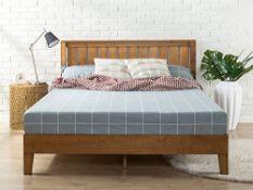 4ft 6 Double Zinus 12inch Solid Wood Platform Bed