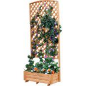Apulia Wooden Planter Box with Trellis - RRP £124.99
