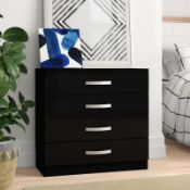 Joselyn High Gloss 4 Drawer Chest - RRP 99.99