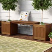 Arianna Wooden Planter Bench - RRP £97.99