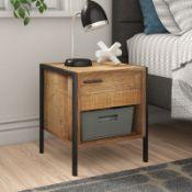 Millstadt 1 Drawer Bedside Table - RRP £58.99