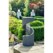 Brant Glass Fiber Reinforced Concrete Spiral Water Feature with LED Light