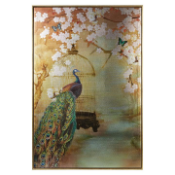 New Large Suki Peacock Canvas and Frame