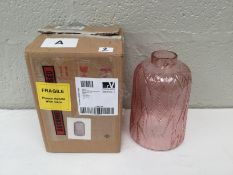 New Pink Glass Vase